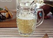 ドロップ ガラスビールジョッキ