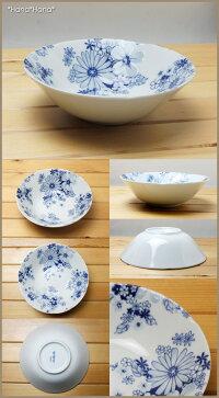 藍の花めぐり17cm中鉢