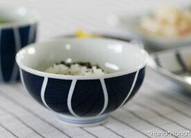 藍十草茶碗波佐見焼