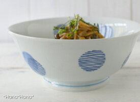 ブルー染丸紋ラーメン丼18.5cm(軽量)波佐見焼