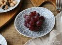 ジオメトリー 楕円小皿 12cm アーチ グレー 波佐見焼//和食器 お皿 おしゃれ 買いまわり