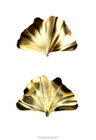 銀杏箸置きマットゴールド