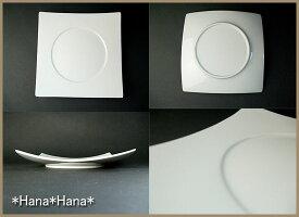 ハンプシリーズワイドスクエアリム23cmハンププレート