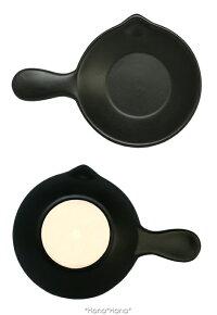 バル片手片口パン直径12cmブラック