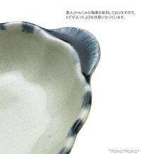 呉須十草耳付き15.5cmオーバルグラタン受皿セット