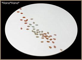 桜丸フラットプレイスマット36cmピュアホワイト漆器