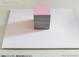 長角フラットプレイスマット43cmピュアホワイト漆器