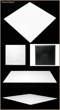 正角プレイスマット30cmピュアホワイトモダンな白い折敷
