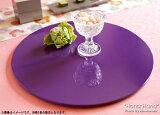 丸フラットプレイスマット 折敷 30cm ラベンダー 漆器//和食器 食器 正月