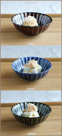 【小兵さんちの食卓・ぎやまん陶】菊形浅小鉢12cmx高さ4cm