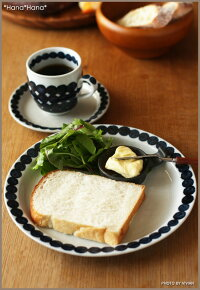 藍玉つなぎ/布目23cm丸皿(敏山窯)