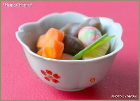 紅白桜グレー小付豆小鉢9.5cm波佐見焼