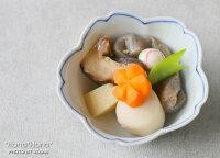 白磁一本線桜型小付豆小鉢9.5cm波佐見焼