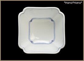 白磁一本線木瓜角型小付ミニ小鉢8cm波佐見焼