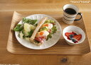 おうちカフェの新定番!ノンスリップウッドトレイ・Uテーブルトレイ40cm【2sp_120822_yellow】