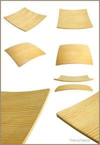 耐水軽量ウッド正角プレート14cm(木製トレーコースター)ベイマツ(ライトカラー)