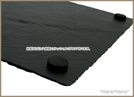 スレート食器長角皿30cm黒い食器