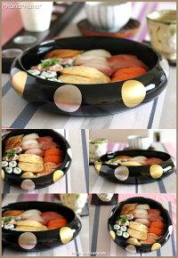 日月・27cm寿司桶・菓子桶