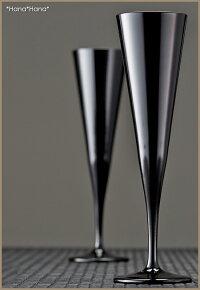 カラーズ/ブラックイプシロンフルートシャンパングラス160ml