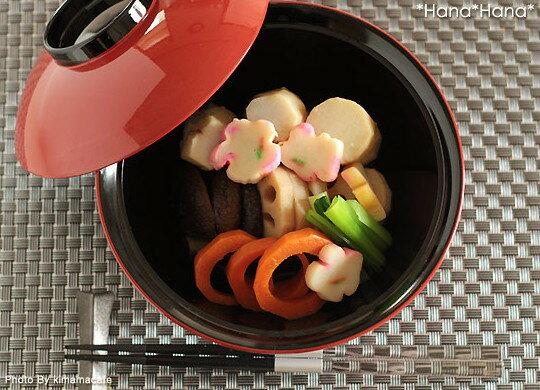 6寸飛龍椀 朱ツバ黒(ふた付き) 18cm 漆器//和食器 食器 正月 キャッシュレス 還元