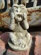 ガーデニング ガーデン ガーゴイル グレムリンイングリッシュ 英国 魔除けグッズ ストーン製【花遊び】『English Small Ram Gargoyle』