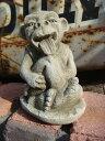 ガーデニング ガーデン ガーゴイル グレムリン イングリッシュ 英国 魔除けグッズ ストーン製【花遊び】 『English Small Lickling Gargoyle』
