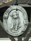 ガーデニング雑貨 ガーデン ドッグ アニマルイングリッシュ 英国 雑貨 ストーン製【花遊び】『English Dog Year Plate』