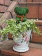 モスアニマル 寄せ植え グリーン スタンドガーデニング ガーデン ギフト テラコッタ【花遊び】『ローズポット♪モスベアー・A』