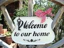 ハンギング アイアン バスケット 壁掛け 棚ウエルカム 寄せ植え ガーデニング ガーデン【花遊び】『エナメルプレートwelcome』