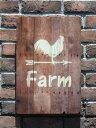 ハンギング ウッド 壁掛け ウエルカム寄せ植え ガーデニング ガーデン【花遊び】『シャビーウッド!Farm Board』