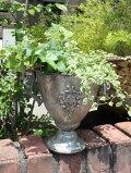 鉢アイアン植木鉢スタンドアンティークプランター寄せ植えガーデニングガーデン【花遊び】アイアンカッププランター・S