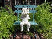 ガーデニング ガーデン チェアー テーブル スタンド インテリア アンティーク ガーデンミニベンチ・ブルー