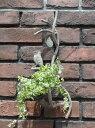 ガーデニング ガーデン 雑貨 アイアン ハンギング寄せ植え プランター アンティーク【花遊び】『アンティーク風・ハンギング小鳥ちゃんの巣』