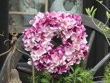 ガーデニング雑貨ガーデンリース玄関フラワー『ハイドランジア・ピンク』