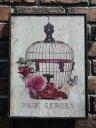 ガーデニング ローズ ハンギング 壁掛け寄せ植え ガーデニング ガーデン【花遊び】『ラスティックボード♪ローズ・B』