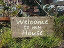 ガーデニング ローズ ハンギング 壁掛け ウエルカム寄せ植え ガーデニング ガーデン【花遊び】『ウッドプレート・House』