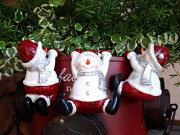 クリスマス スノーマン トナカイ イルミネーション ポインセチアオーナメント ガーデニングガーデン アンティーク ポットハンギング