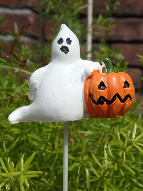 ハロウィン かぼちゃ パンプキン オーナメント【花遊び】【NEW】『パンプキン&ゴーストピック』