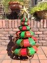 クリスマス サンタ スノーマン トナカイ ツリーガーデニング ガーデン アンティーク【花遊び】【NEW】『アンティーク風!アイアンガーデン リボンツリー』