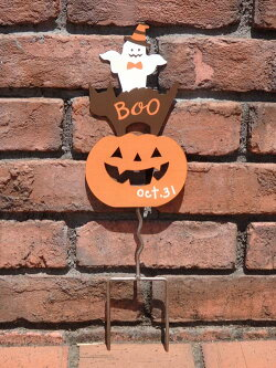ハロウィンかぼちゃパンプキンオーナメント【花遊び】『シャドウキャットパンプキンピック』