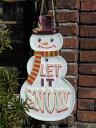 クリスマス ツリー ステンドグラス 置物 スタンド樹脂 雑貨 ガーデニング ガーデン【花遊び】『ハンギング♪クリスマスhappyスノーマン・B』