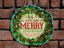 クリスマス ツリー ステンドグラス 置物 スタンド樹脂 雑貨 ガーデニング ガーデン【花遊び】『ハンギング♪クリスマスhappyリース』