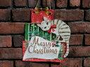 クリスマス ツリー ステンドグラス 置物 スタンド樹脂 雑貨 ガーデニング ガーデン【花遊び】『ハンギング♪クリスマスhappyキャット』