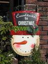 クリスマス ツリー ステンドグラス 置物 スタンド樹脂 雑貨 ガーデニング ガーデン【花遊び】『ハンギング♪アドベントスノーマン』