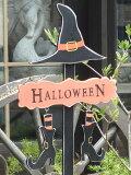 ハロウィンかぼちゃパンプキンオーナメントガーデニングガーデンアンティーク【花遊び】『スケアリーゴーストハング』