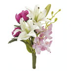 【造花】ゆりミニバンドル  /ZA004510【01】【取寄】《 造花(アーティフィシャルフラワー) 造花 花材「や行」 ユリ(百合)・リリー 》