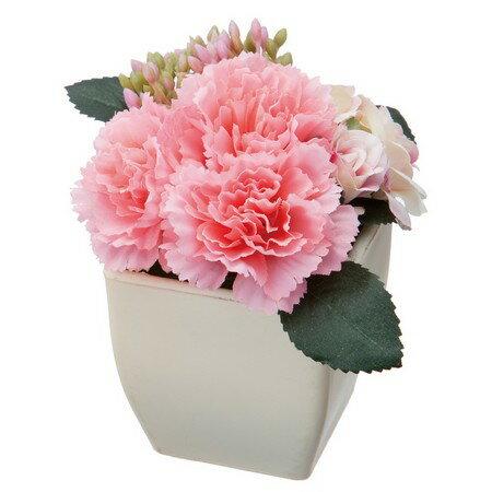 即日 大特価◎【造花】YDM/カーネーションローズポット ピンク/SPD0382-P《 造花(アーティフィシャルフラワー) 造花ギフト フラワーアレンジ 》