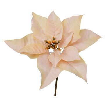 【造花】YDM/ポインセチアショート クリームピンク/FS -6956-CRP【01】【01】【取寄】《 造花(アーティフィシャルフラワー) 造花 花材「は行」 ポインセチア 》
