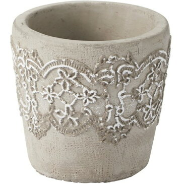 大特価 即日 YDM/レースリボンパターンポット S /RFB-127《 花器、リース 花器・花瓶 陶器花器 》