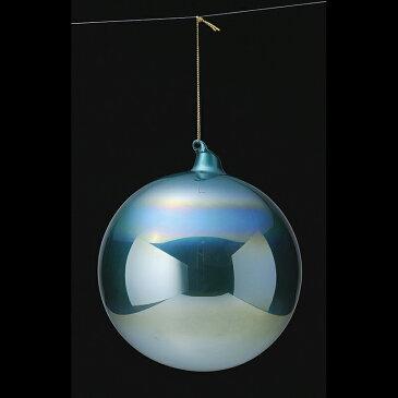 アスカ/カラーガラスボール タ-コイズブルー/AX68744-051T【01】【取寄】《 店舗ディスプレイ クリスマス飾り ボールオーナメント 》